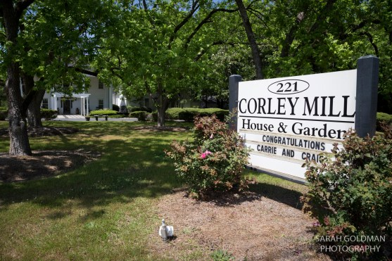 corley mill house sign