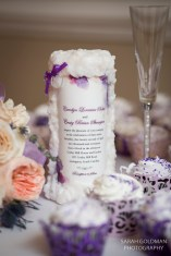 wedding invitation in a candle