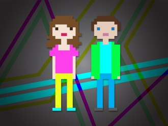 8 bit boy and girl for a series for Summit Church