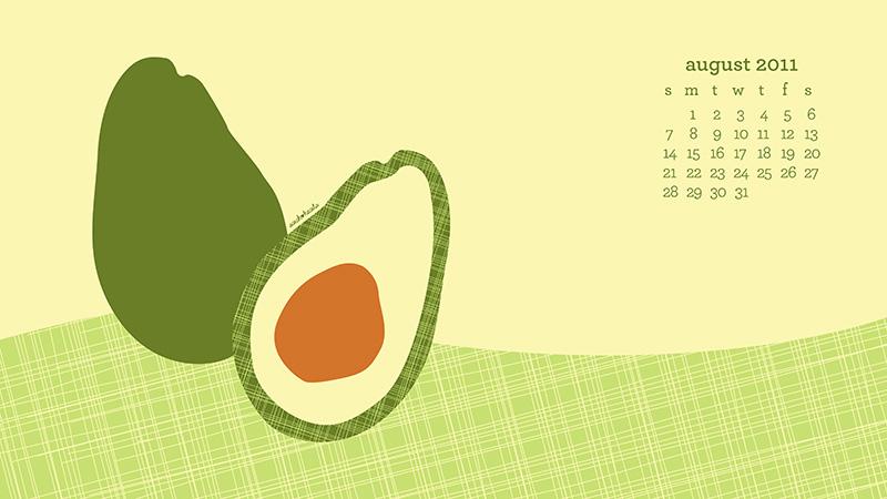 Avocado Desktop Calendar Wallpaper | Sarah Hearts