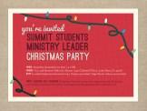 Retro inspired Christmas party invitation
