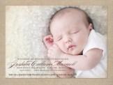 Baby boy's photo birth announcement