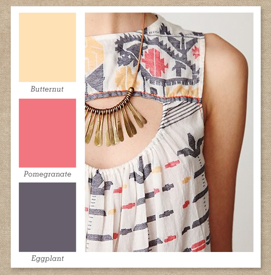 Pale Yellow, Pink and Gray Purple Color Palette