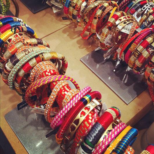 Wrapped bangle bracelets from Madewell