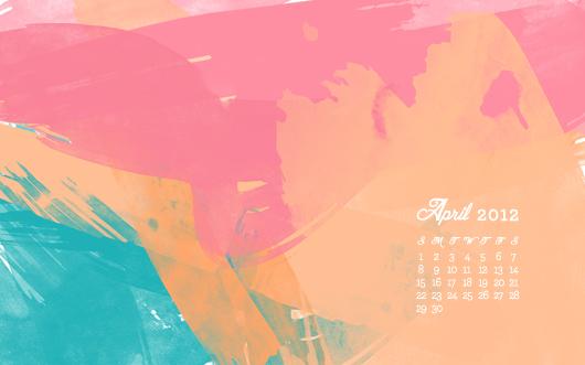 april 2012 calendar wallpaper