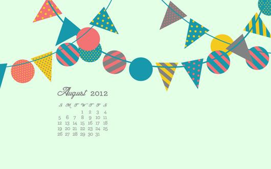 august 2012 free calendar wallpaper