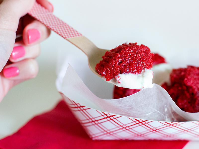 Red Velvet Cupcake Ice Cream Sandwich