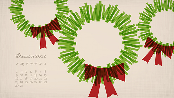December 2012 Calendar Wallpaper from sarahhearts.com