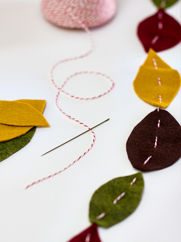 Simply DIY Felt Leaf Garland