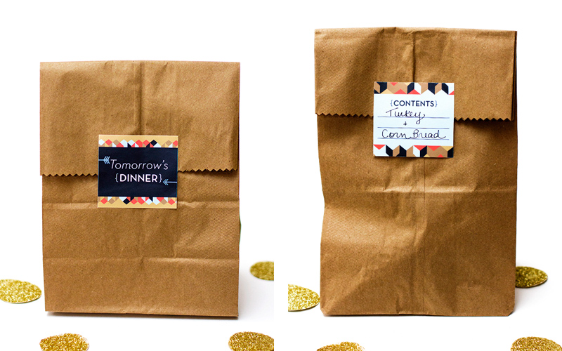 thanksgiving printable take home container labels