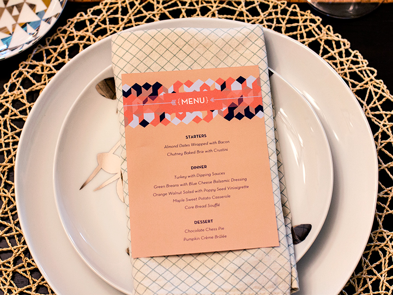 free thanksgiving menu printable template