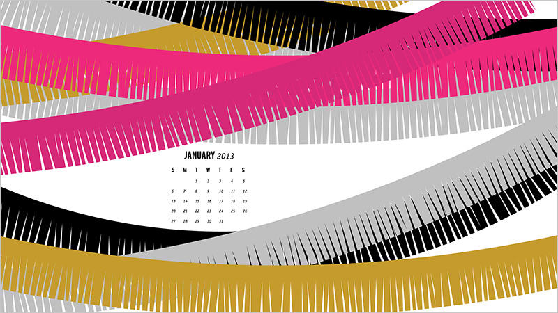 January 2013 Wallpaper from Sarah Hearts
