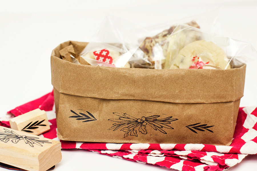 DIY Paper Bag Gift Baskets by sarahhearts.com for Yours is the Earth