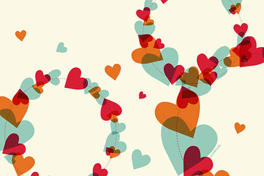 Hearts Computer iPad iPhone Wallpaper by Sarah Hearts