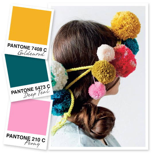 Mustard, Teal and Pink Color Palette Inspiration from Sarah Hearts