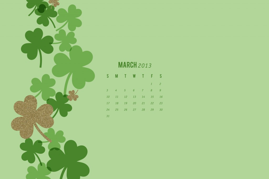 March 2013 Calendar Wallpaper by Sarah Hearts