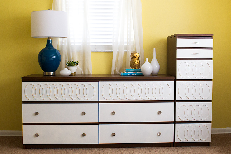 DIY Ikea Malm Mid Century Modern Dresser
