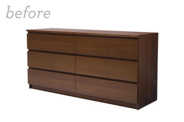 Mid Century Modern DIY Ikea Malm Dresser With Myoverlays.com | Sarah Hearts  ...