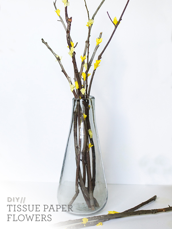 DIY West Elm Inspired Paper Flower Branches | Sarah Hearts