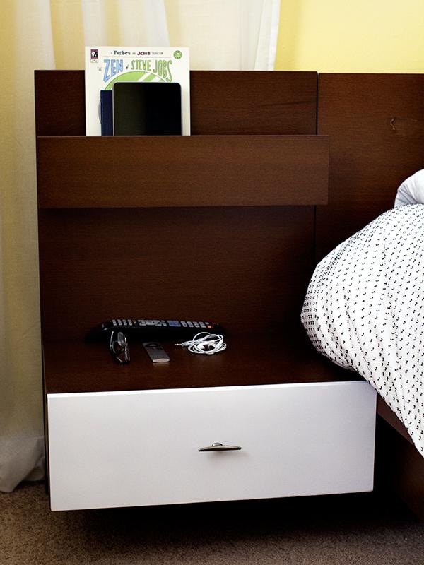 DIY Mid-Century Modern Ikea Malm Bedside Table | Sarah Hearts
