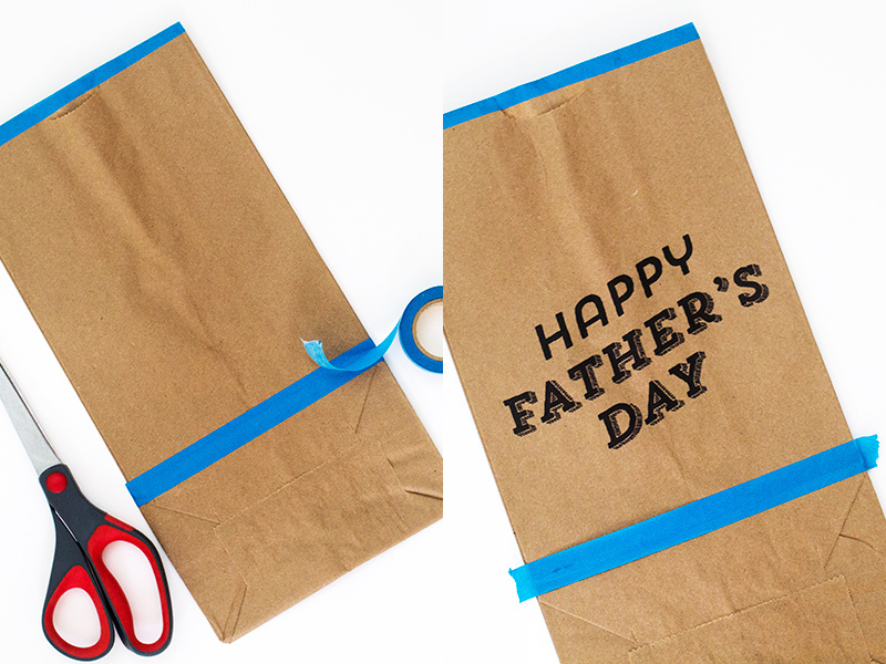 photograph regarding Printable Paper Bags known as Printable Fathers Working day Paper Baggage - Sarah Hearts