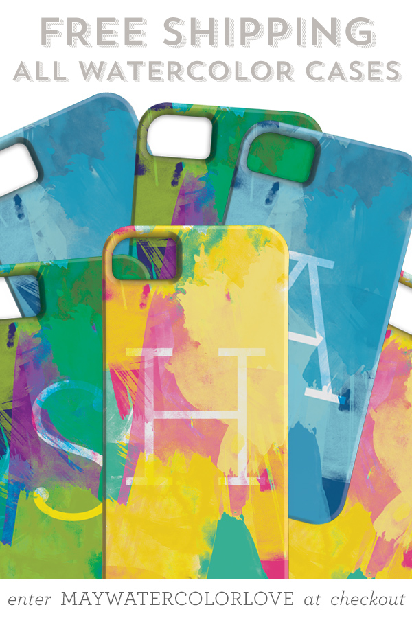 Watercolor Personalized iPhone Cases with Free Shipping | Sarah Hearts