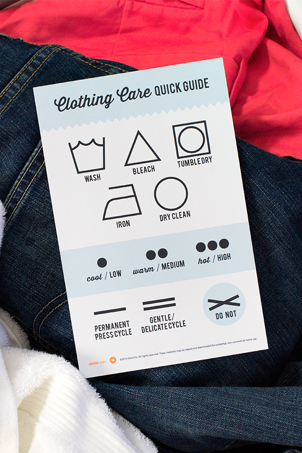photograph relating to Clothing Tags Printable called Printable Apparel Treatment Brand Chart - Sarah Hearts