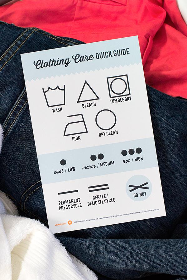 Printable Clothing Care Symbol Chart   Sarah Hearts