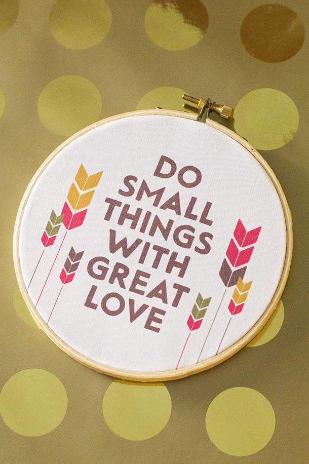 Printable Embroidery Hoop Wall Art | Sarah Hearts