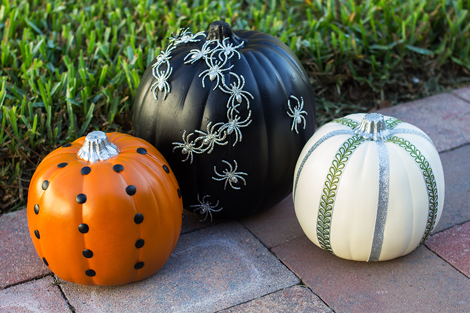 No Carve Pumpkin Decorating Ideas | Sarah Hearts