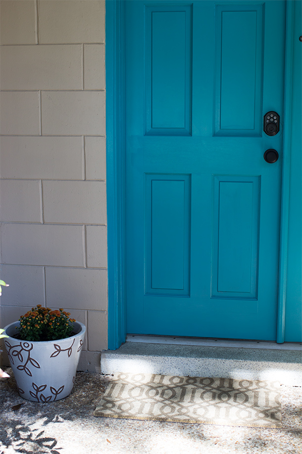 Teal Painted Front Door Sarah Hearts