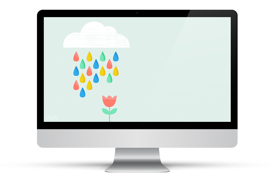 April showers are going to bring May flowers to your desktop! This free wallpaper is perfect for spring!