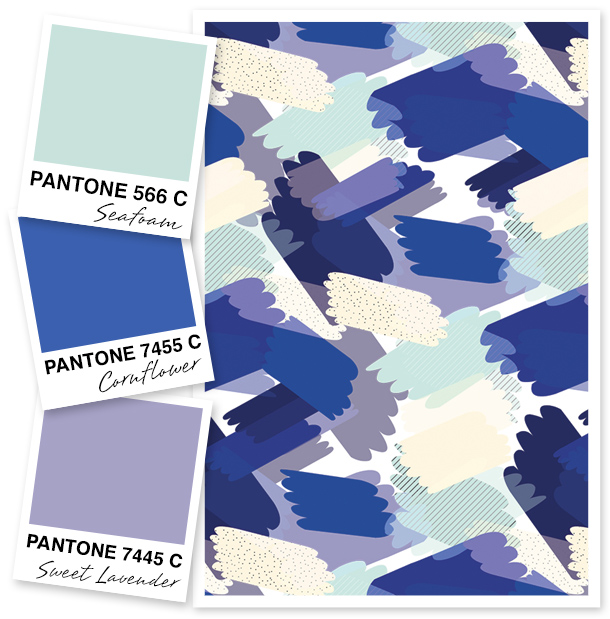 Like cool colors? Then you'll love this seafoam green, cornflower blue, and sweet lavender color palette!