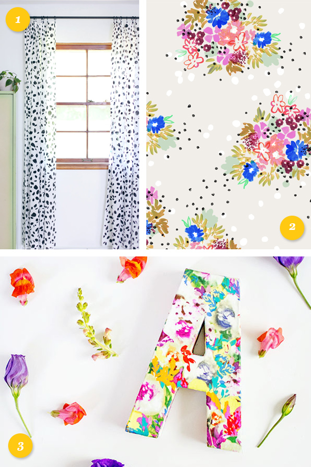 Make spring last a little longer and add some dots and florals to your home and desktop! #linkstolove