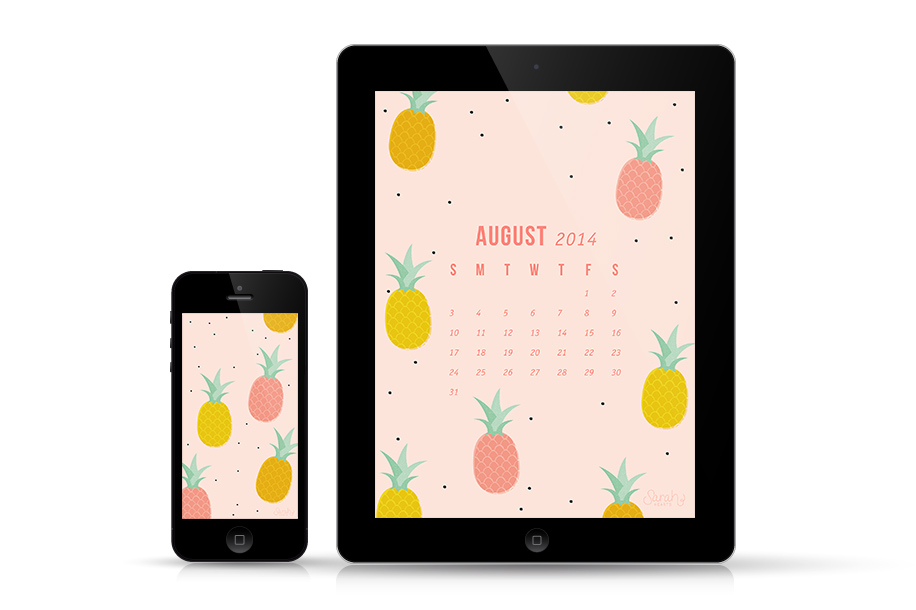 Your iPhone and iPad don't need to be boring dress them up with this free pineapple wallpaper.