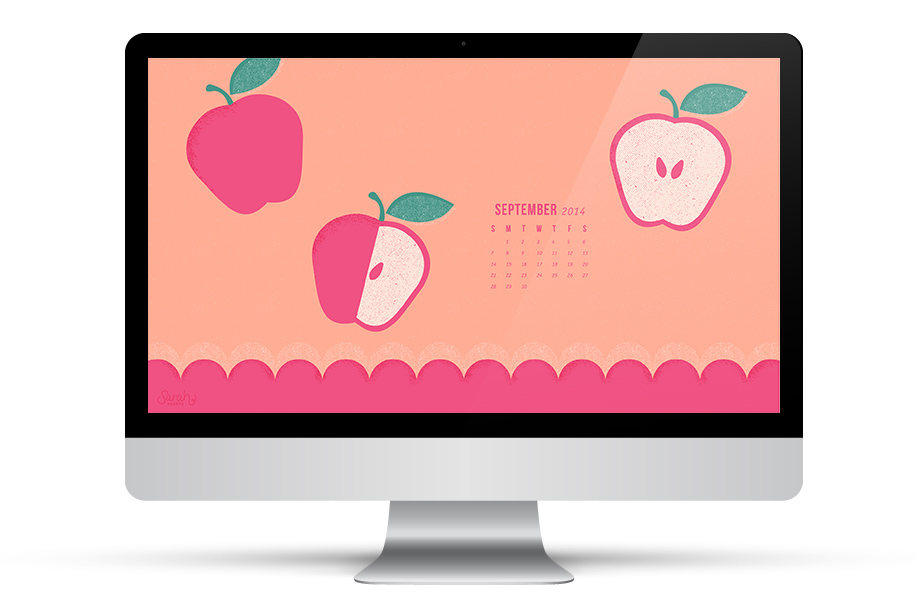 Dress up your desktop with this free September 2014 calendar wallpaper. Available for all devices!