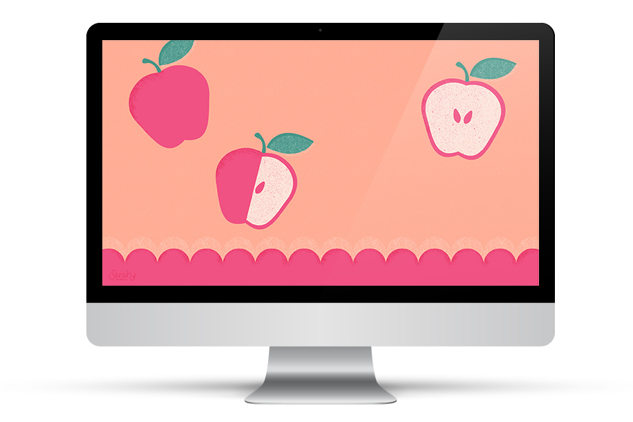 You're the apple of my eye! Dress up your computer, phone, or tablet with this cute, free wallpaper.