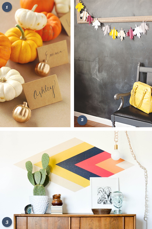 Welcome fall with one of these autumn inspired DIY projects for your home. Click through for links to each project tutorial.