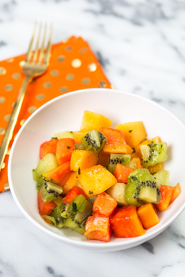 Serve up this delicious tropical fruit salad at your next brunch or potluck. It's sure to be a new favorite!