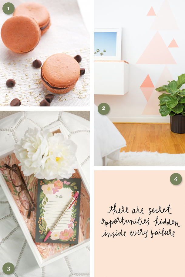 Loving these blush and coral DIY projects and recipes! They would make fun weekend projects.
