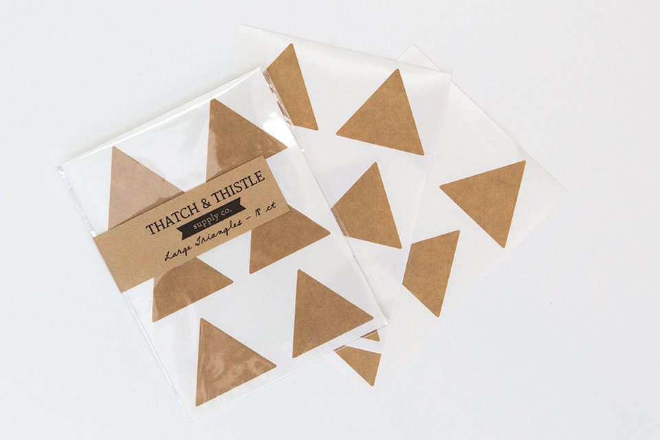 Kraft paper stickers by Thatch & Thistle are perfect for fall and holiday projects.