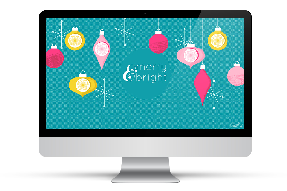 May your desktop be merry and bright! Download this free wallpaper for your computer, tablet or phone.