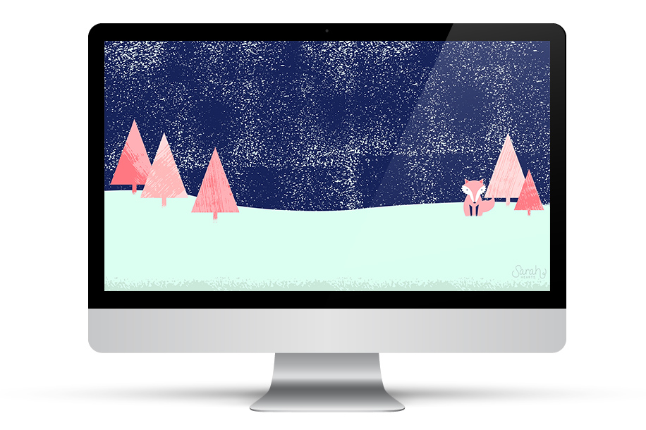 Loving this free winter wallpaper! It's available for computers, tablets, and phones.