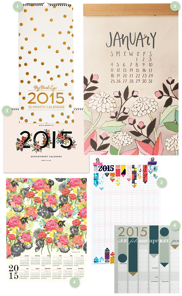 Great round up of 2015 calendars.