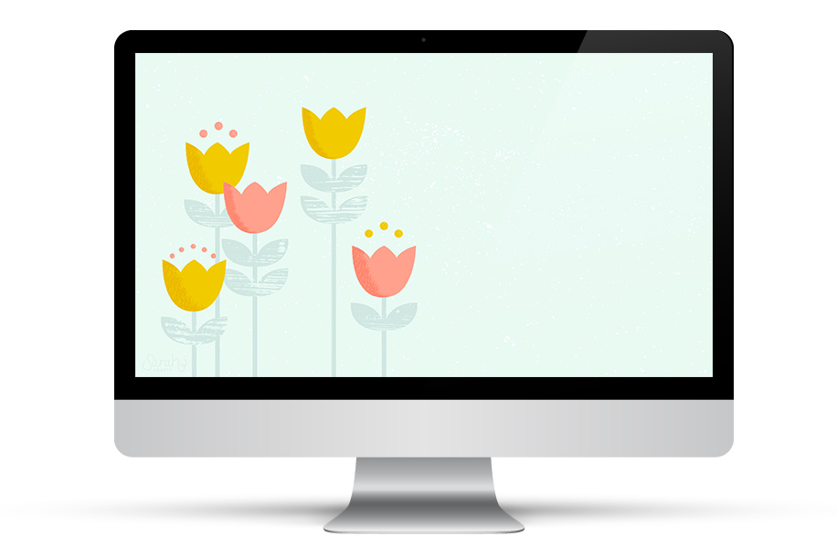 Brighten up your computer with this pretty modern tulip wallpaper. It's also available for your iPhone and iPad so you can enjoy it wherever you go.