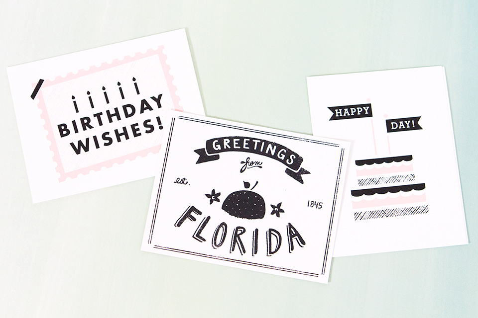 The Paper Cub Co. is based in Winter Park, Florida and creates fun screen printed paper goods like these!