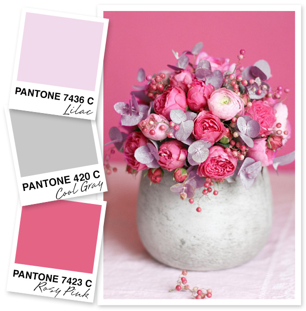 Looking for a new way to use pink and lilac? How about pairing it with a soft stone gray!