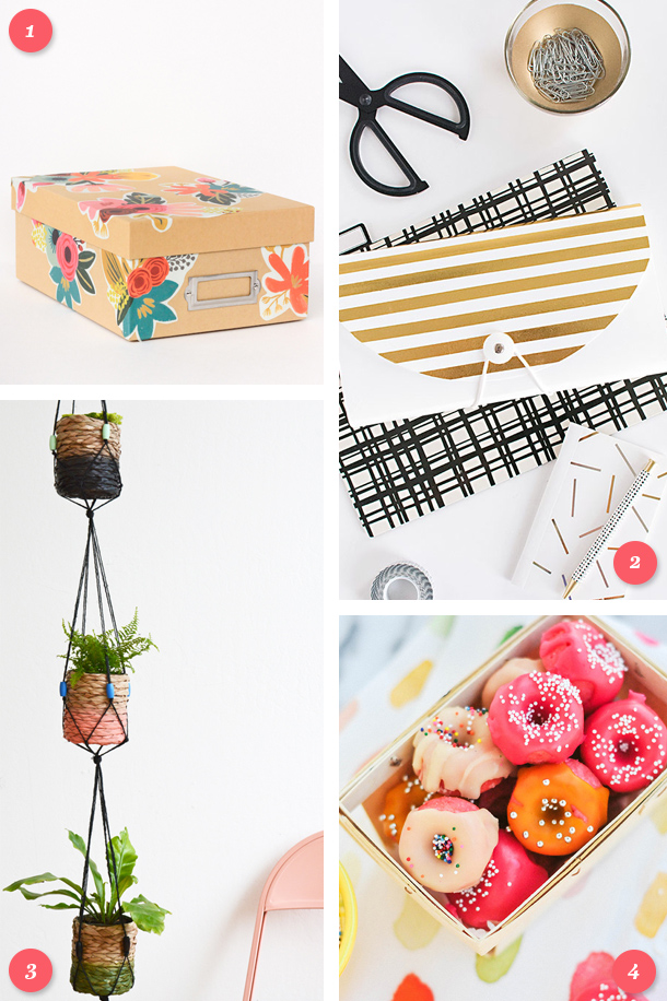 Create something beautiful (or delicious) this weekend and try one of these simple DIY projects! Click through for links to each tutorial.