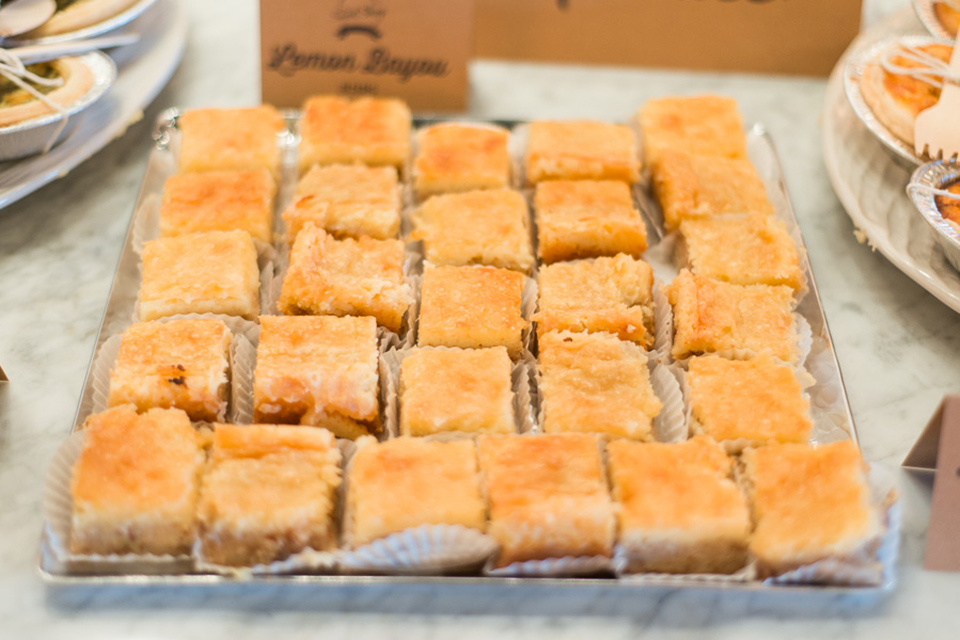 The Sweet Shop Lemon Bayou Bars are a blondie and a lemon bar in one! Next time you visit Orlando you have to stop by 4 the Rivers Sweet Shop and try one of their delicious desserts.