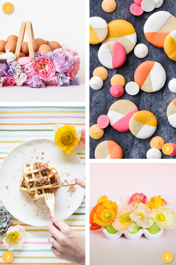 Get ready for Easter with these beautiful floral DIY projects and delicious recipes! Click through for links to each project.
